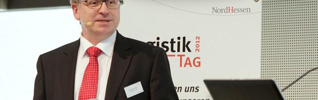 Bernhard Albert auf dem Logistiktag 2012 in Kassel (Bild: Erik Dachselt / Mainblick)