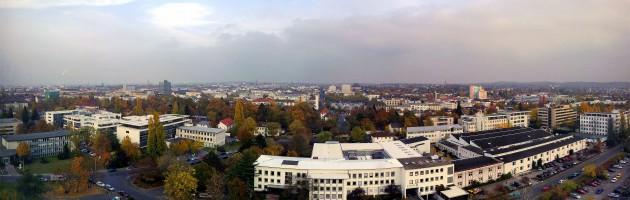 Blick vom Turm der Hochschule Darmstadt