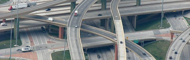 Automotive City - High Five Interchange in Dallas, Texas
