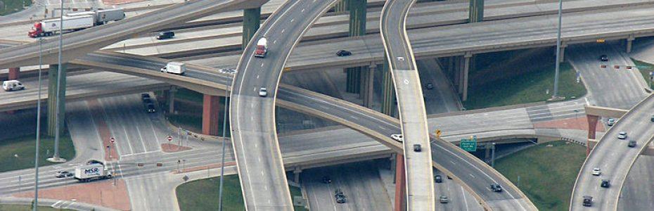 Automotive City - High Five Interchange in Dallas, Texas