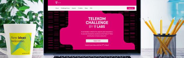 Website des Innovationswettbewerbs Telekom Challenge